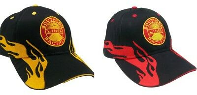Union Pacific Railroad Shield Embroidered Flame Cap Hat 40-0047F Color Choice