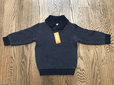 NWT Gymboree Toddlers Boys Navy Sweater Size 3T