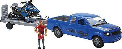 NewRay Pick Up with Trailor Snowmobile Switch Blue/Blue