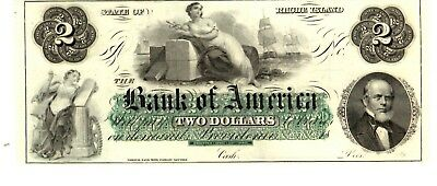 The Bank of America $2 bill State of Rhode Island note 18__ (LN-26)