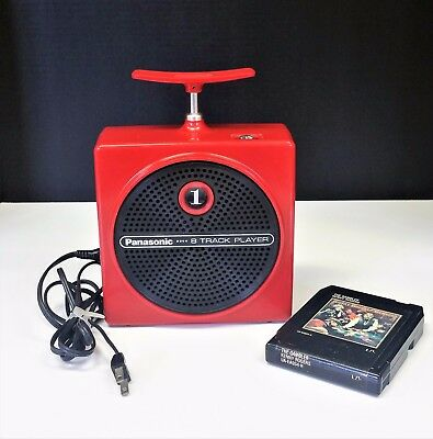 Vintage Red Panasonic - RQ-830S - 8 Track Tape Player  With Tape of The Gambler