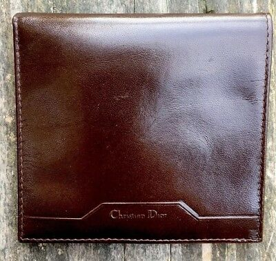 Christian Dior Brown Vintage Mens Soft Calf Skin Wallet Made In Italy