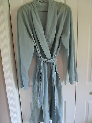 Vtg Men's JC Pennys Towncraft Light Weight Baby Blue Houndstooth Robe 46-48