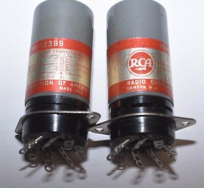 PAIR RCA MI-12399 MICROPHONE INPUT TRANSFORMERS  tested working