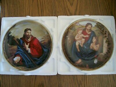 Set Of 2 Moments Of Prayer Christopher Nick Bradford Collector Plates Blessing