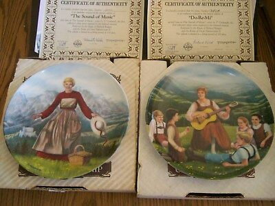 Set Of 2 Sound Of Music Collector Knowels China Plate Number 1 And 2 In Series