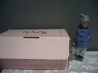 Nao / Lladro Spain 'ready For The Excursion' Retired Vintage Figurine - Vgc
