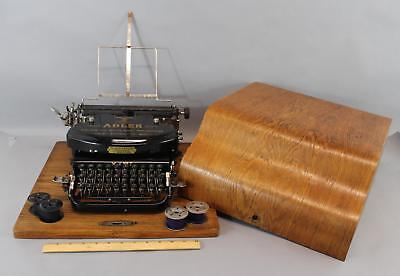 Antique 1928 Adler Klein, Model No. 7 Typewriter & Wooden Case, WORKING!