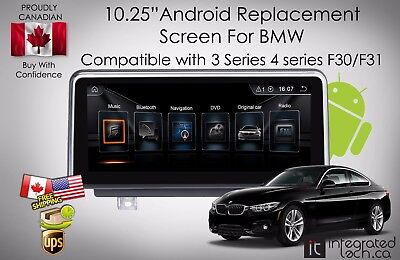 """10.25"""" Android Screen GPS Navigation for BMW 4 Series F30 F31 F34 2012-2016"""