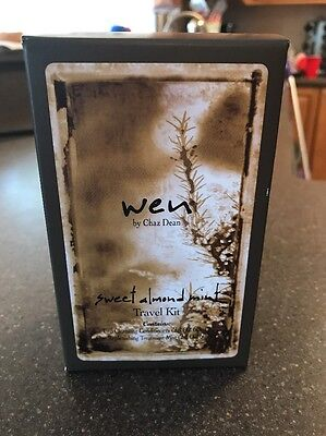 BRAND NEW Wen Hair Care Kit By Chaz Dean 3 piece Sweet almond mint travel kit