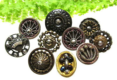 Sparkling Lot Of Victorian Cut Steel Buttons V79