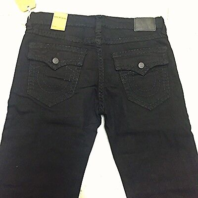 Mens Black True Religion Jeans Ricky Relaxed Fit Midnight Black All Sizes