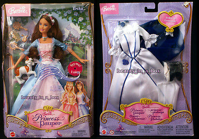 Erika Barbie Doll Princess and the Pauper Plus Wedding Fashion Set SW Lot 2