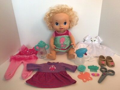 Baby Alive 2011 Blonde Beautiful Now Blonde Baby With Accessories