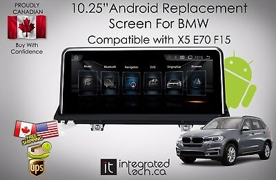 """10.25"""" Android Screen GPS Navigation for BMW X5 E70 F15 2007-2016"""