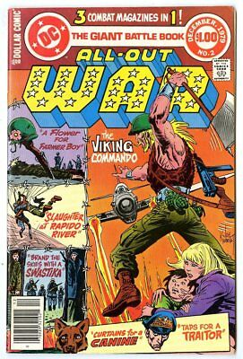 All-Out War #2 NM- 9.2 white pages  Viking Commando  DC  Giant  1979  No Reserve