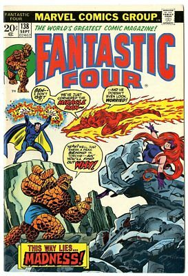 Fantastic Four #138 VF/NM 9.0  vs. Miracle Man  Marvel  1973  No Reserve