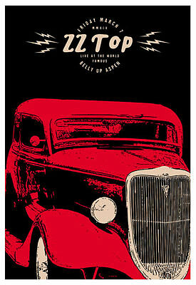 Scrojo ZZ Top Belly Up Aspen Colorado 2014 Poster ZZTop_1403
