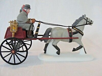 Dept 56 Dickens Village ~ Red Christmas Sulky ~ 58401-Retired MIB