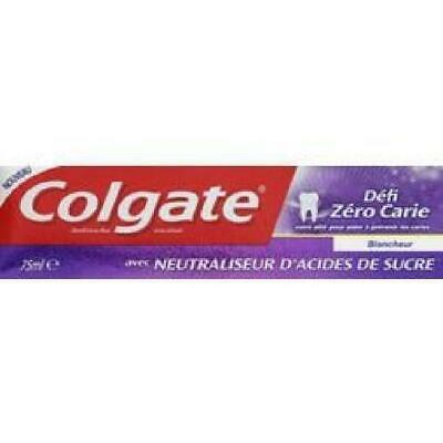 COLGATE Lot de 4 dentifrices defi zero carie blancheur - 75 mL - Lot de 4 -A