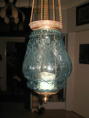 An Antique Candle Light Pendant Lamp
