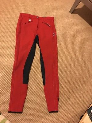 Pikeur Calista Full Seat Breeches in Red With Blue Full Seat Women's 30L