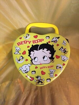 Betty Boop & Friends Heart Shape Tin Can 1999 Edition!