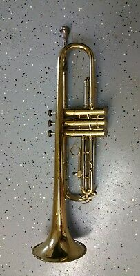 TRUMPET Reynolds Medalist Brass & silver Horn 3 VALVES CASE AND MOUTHPIECE