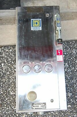 Square D 8539 SCW42 Combination Starter Stainless Steel Enclosure disconnect