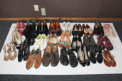 Lot Wholesale Used Shoes Rehab Resale Tory Burch Burberry Keen Ferragamo zRxE