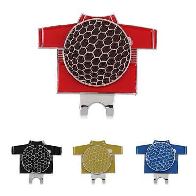 Golf T Shirt Pattern Alloy Golf Ball Marker w/ Magnetic Hat & Visor Clip