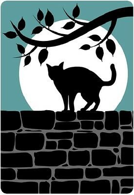 30 Custom Cat Silhouette Personalized Address Labels