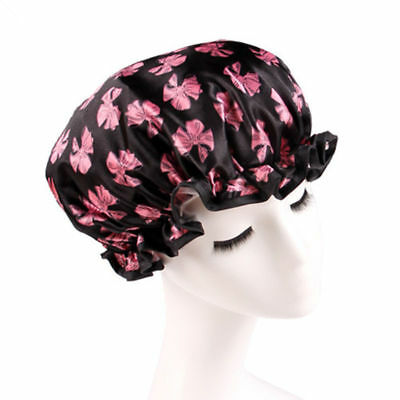 Women Practical Waterproof Shower Caps Multi Style Bathing Hats Colorful New