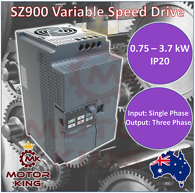 Single Phase 0.75 1.5 2.2 3.7 kW VSD VFD Variable Speed Frequency Drive Inverter