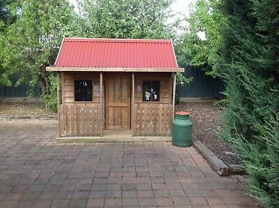 Childrens Kids Cubby Play House Fort Wooden Treated Pine Pickup Ballarat