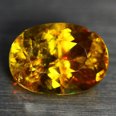 4.29 CTS_DIAMOND LUSTER_100% NATURAL UNHEATED GOLDEN YELLOW with RED SPOT SPHENE