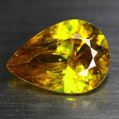 3.33 CTS_DIAMOND LUSTER_100% NATURAL UNHEATED GOLDEN YELLOW with RED SPOT SPHENE