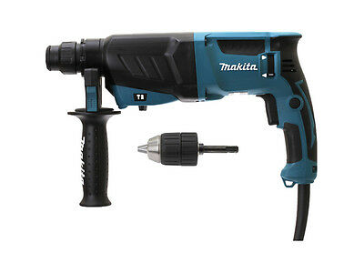Makita HR2630 SDS+ 3 Mode Hammer Drill 110V + Keyless Chuck & Adapter