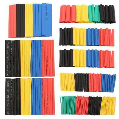328 Pcs 5 Colors 8 Sizes Assorted 2:1 Heat Shrink Tubing Wrap Sleeve Kit Hot New