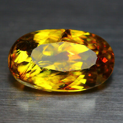 3.13 CTS_DIAMOND LUSTER_100% NATURAL UNHEATED GOLDEN YELLOW with RED SPOT SPHENE