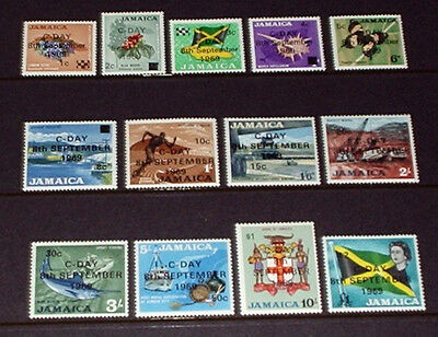 Jamaica C-Day overprints. all mint unhinged.