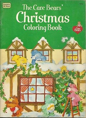 Vintage Care Bears Christmas Colouring Book ~ New & UNUSED ~ 1983