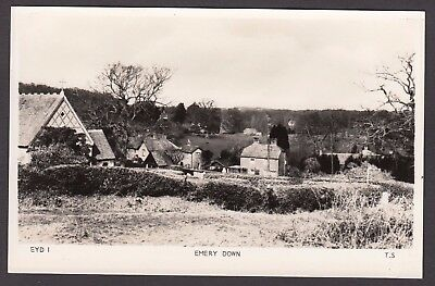 Postcard Emery Down nr Lyndhurst New Forest Hampshire RP by Frith's Series