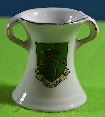 Crested Ware Two Handled Drinking Vessel - Lyndhurst