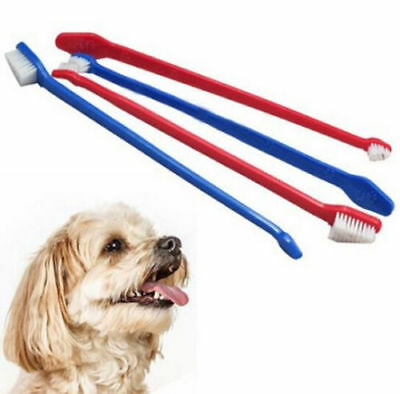 3 pcs Dental Grooming Tooth Brush Dual End Cat Dog Puppy Toothbrush