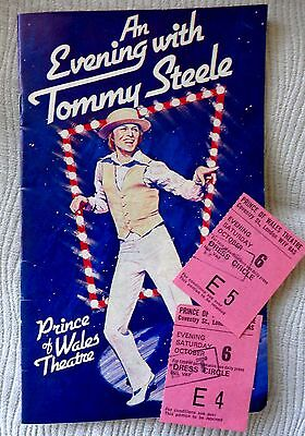 An evening with Tommy Steel Programme & Tickets Oct 1979 ( Signed )