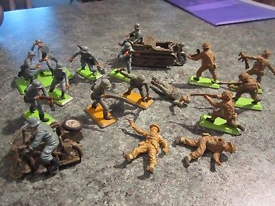 Britains ww2 Germans & British infantry & vehicles, ( incomplete )