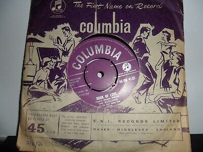 "The Mudlarks.book Of Love.columbia.7"" Vinyl Single.45Rpm"