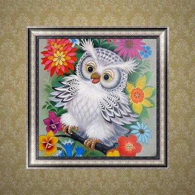5D Diamond Painting DIY Embroidery Owl Animals Cross Crafts Stitch Decors Kit