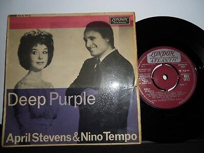 "April Stevens And Nino Tempo.deep Purple London 4 Track Ep.7"" Vinyl.45Rpm"